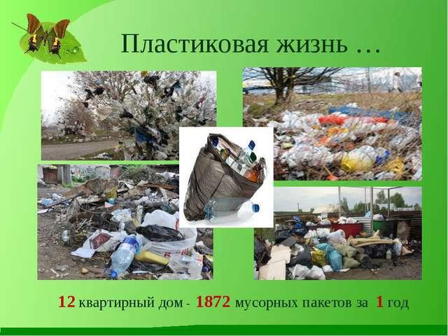 Пластиковая жизнь … 12 квартирный дом - 1872 мусорных пакетов за 1 год