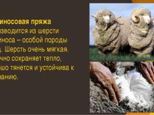 Мериносовая пряжа производится из шерсти мериноса – особой породы овец. Шерст