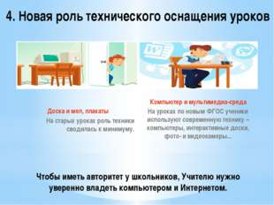 Чтобы иметь авторитет у школьников, Учителю нужно уверенно владеть компьютеро