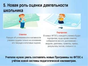 Учителю нужно уметь составлять новые Программы по ФГОС с учётом новой системы