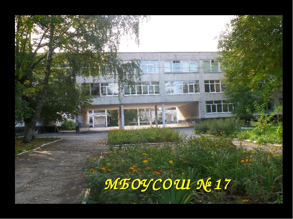 МБОУСОШ № 17