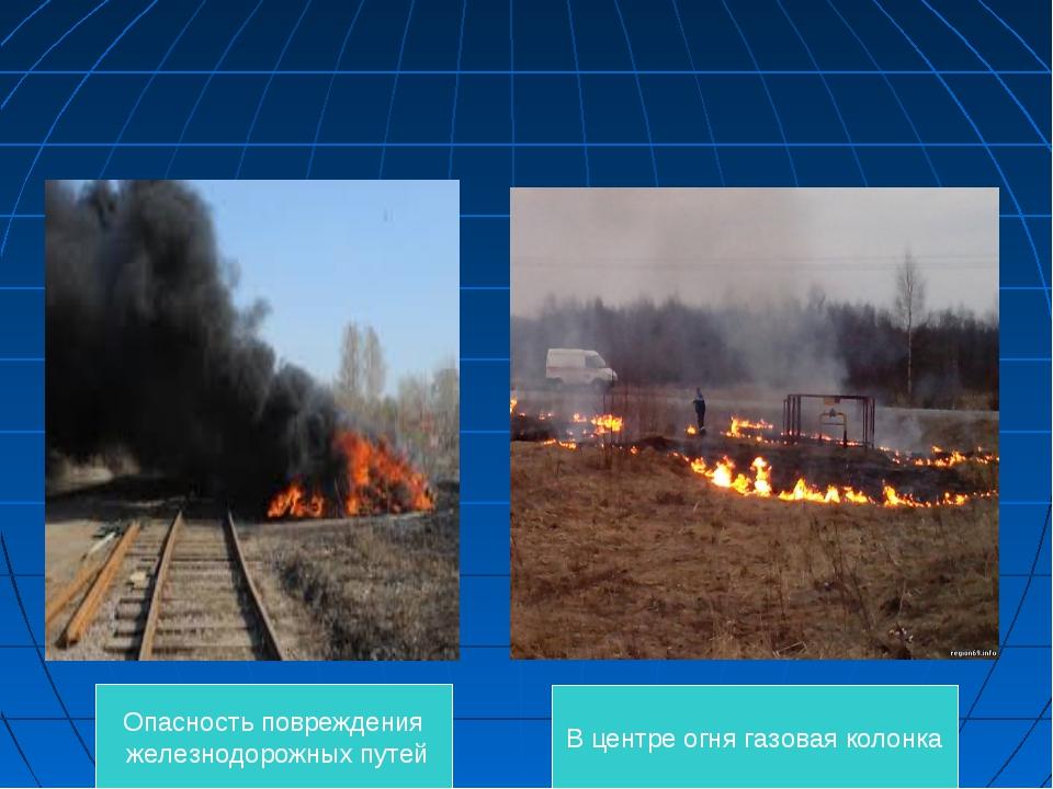 Опасность повреждения железнодорожных путей В центре огня газовая колонка