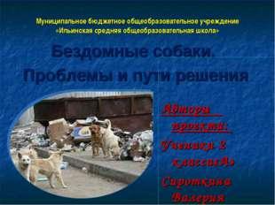 Муниципальное бюджетное общеобразовательное учреждение «Ильинская средняя общ