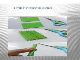 4 этап. Изготовление листьев