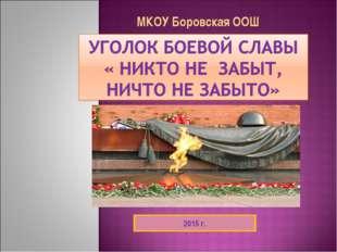 МКОУ Боровская ООШ 2015 г.
