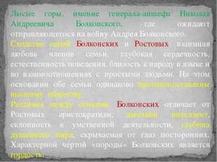 Лысые горы, имение генерала-аншефа Николая Андреевича Болконского, где ожидаю