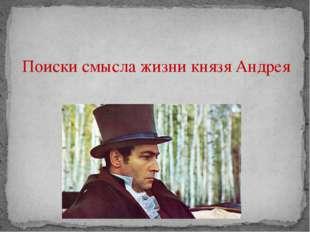 Поиски смысла жизни князя Андрея
