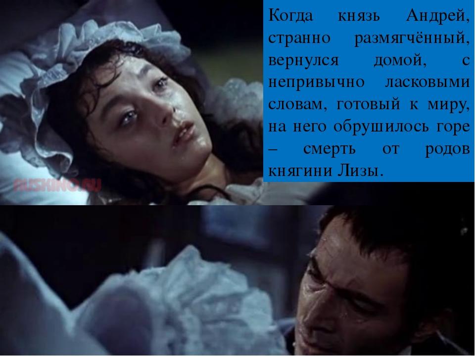 Когда князь Андрей, странно размягчённый, вернулся домой, с непривычно ласков...