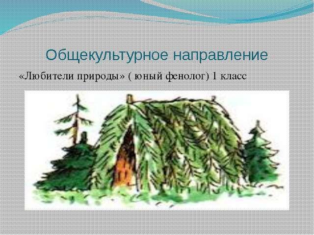 Общекультурное направление «Любители природы» ( юный фенолог) 1 класс