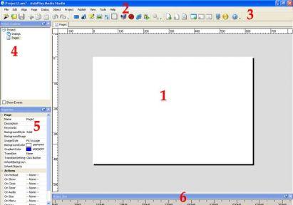 рабочая область программы autoplay media studio