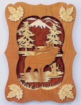 Панно Лось (North American Wildlife) - 17 Июля 2012 - Lobzik - Лобзик - выпиливание лобзиком