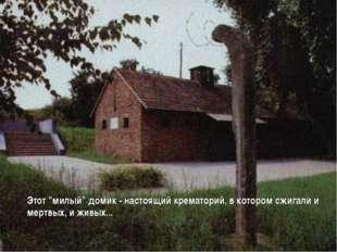"""Этот """"милый"""" домик - настоящий крематорий, в котором сжигали и мертвых, и жи"""