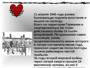 Смотреть другие международные праздники 11 апреля 1945 года узники Бухенвальд