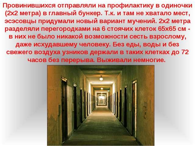 Провинившихся отправляли на профилактику в одиночки (2х2 метра) в главный бун...