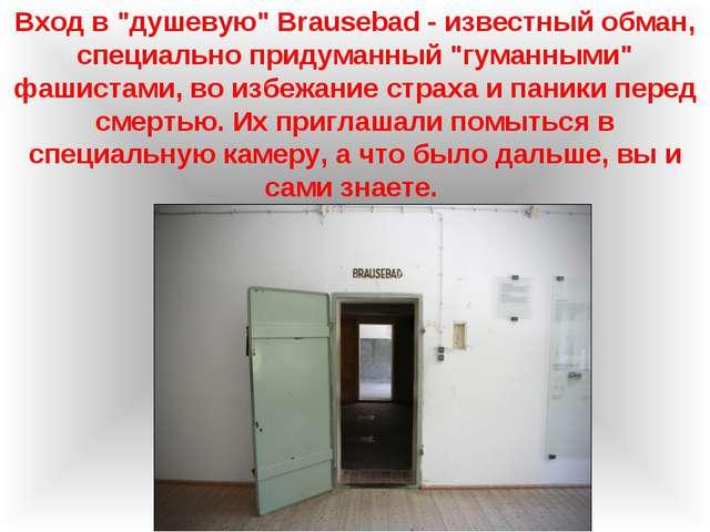 """Вход в """"душевую"""" Brausebad - известный обман, специально придуманный """"гуманны..."""