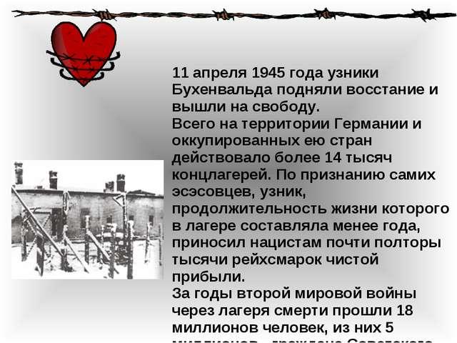 Смотреть другие международные праздники 11 апреля 1945 года узники Бухенвальд...