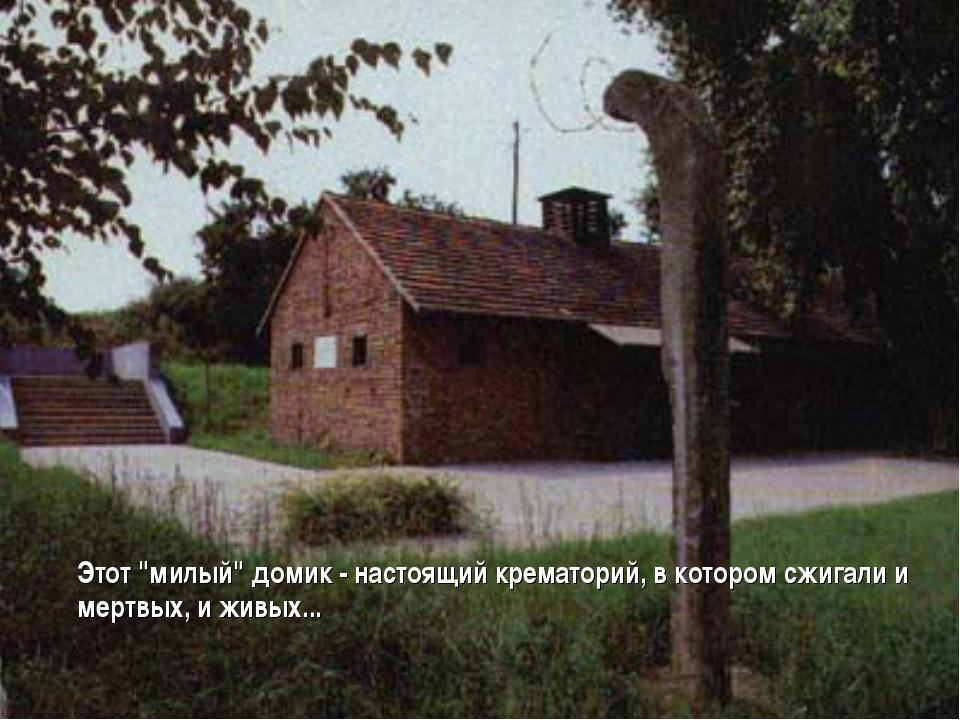 """Этот """"милый"""" домик - настоящий крематорий, в котором сжигали и мертвых, и жи..."""