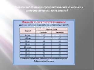 1.1.Правила выполнения антропометрических измерений и физиометрических исслед