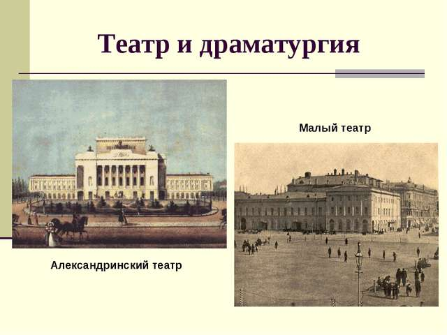 Театр и драматургия Александринский театр Малый театр