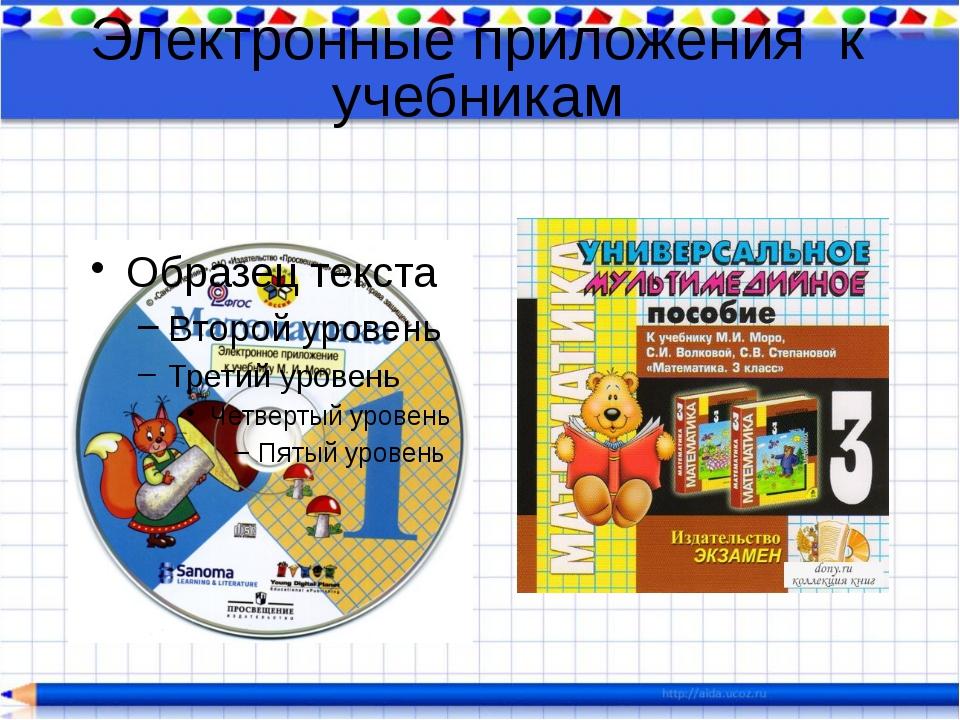 Как сделать электронное приложение к учебнику
