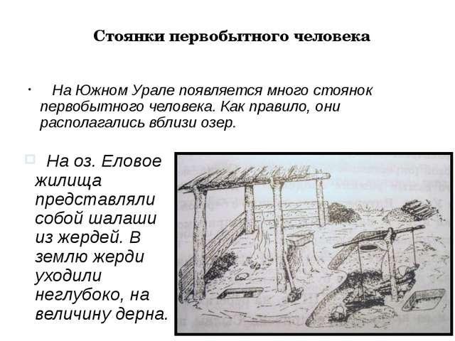 Стоянки первобытного человека На Южном Урале появляется много стоянок первобы...