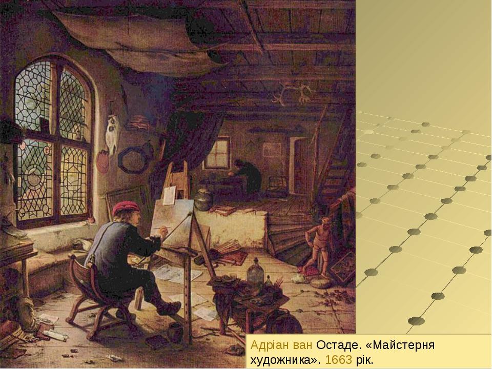 Адріан ван Остаде. «Майстерня художника». 1663 рік.