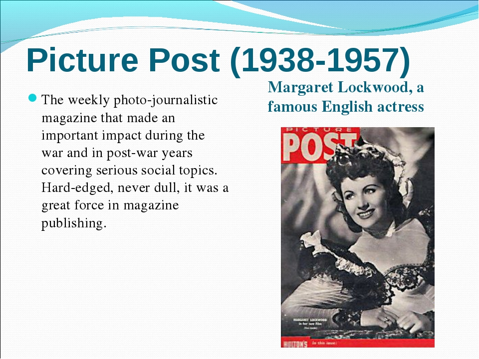 Picture Post (1938-1957) Margaret Lockwood, a famous English actress The week...