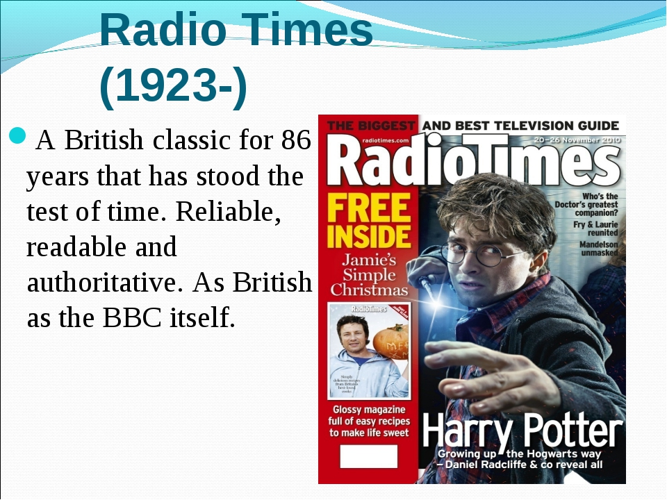 Radio Times (1923-) A British classic for 86 years that has stood the test of...