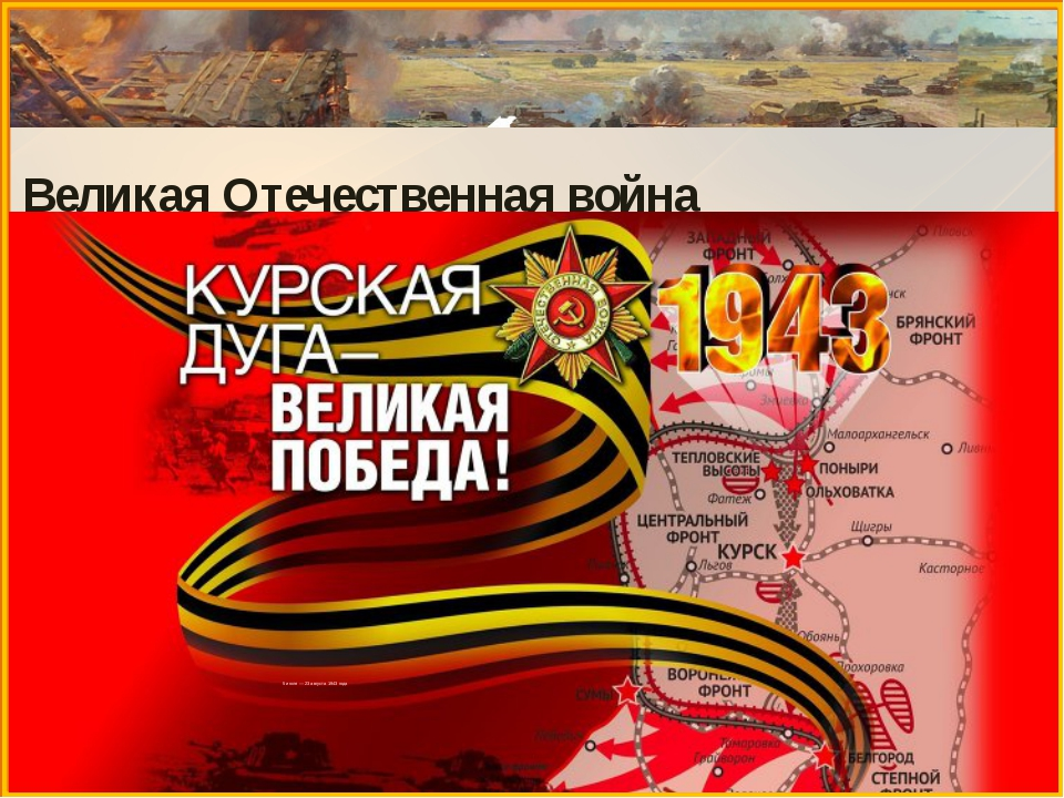 Великая Отечественная война 5 июля — 23 августа 1943 года