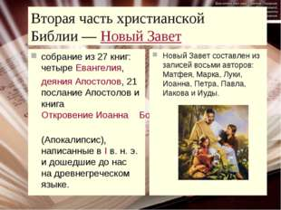 Вторая часть христианской Библии—Новый Завет собрание из 27 книг: четыреЕв