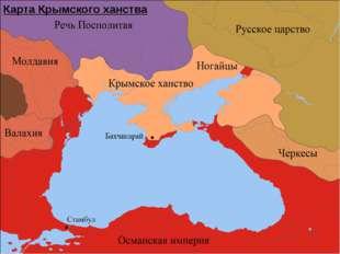 Карта Крымского ханства