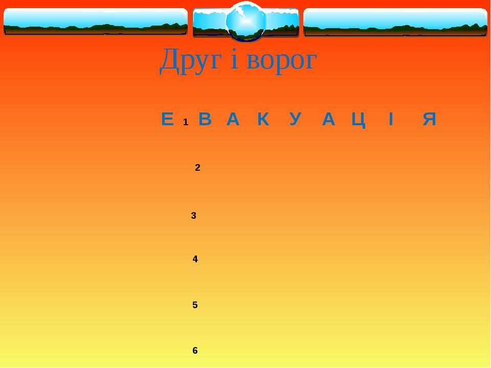Друг і ворог Е1 ВАКУАЦІЯ 2  3...