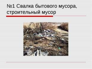 №1 Свалка бытового мусора, строительный мусор