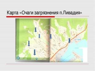 Карта «Очаги загрязнения п.Ливадия» 1 3 4 5 6