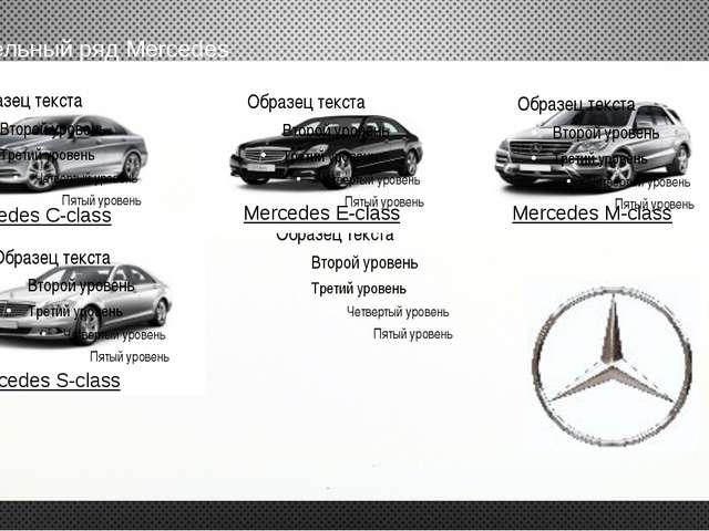 модельный ряд Mercedes Mercedes E-class Mercedes M-class Mercedes S-class Mer...
