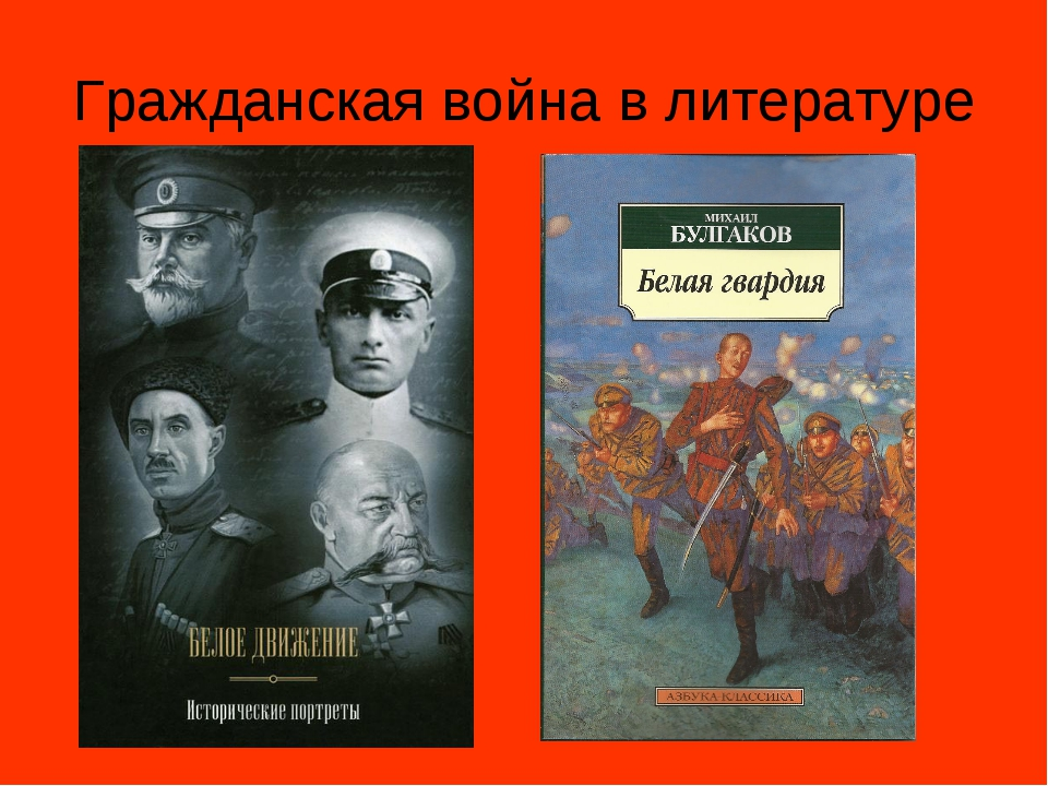 Гражданская война в литературе