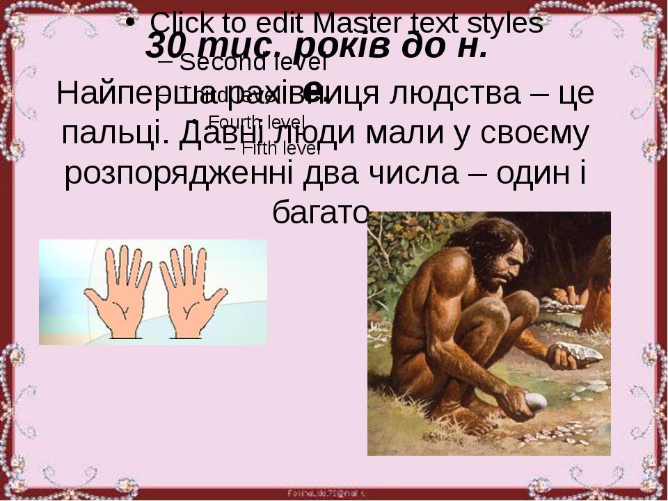Найперша рахівниця людства – це пальці. Давні люди мали у своєму розпоряджен...