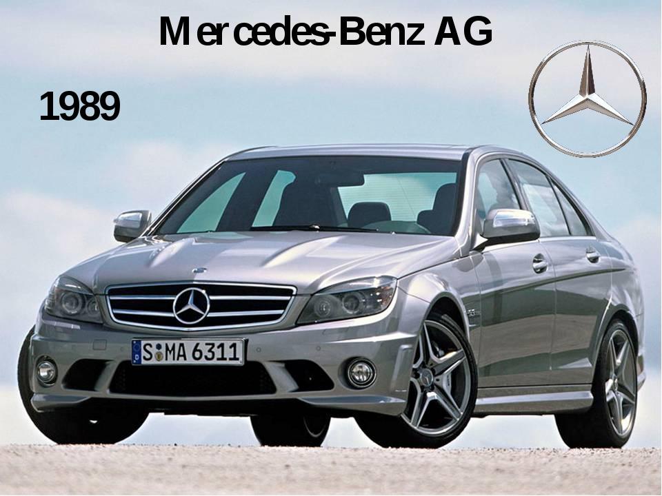 Mercedes-Benz AG 1989