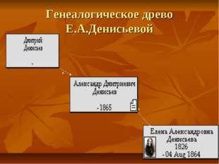 Генеалогическое древо Е.А.Денисьевой