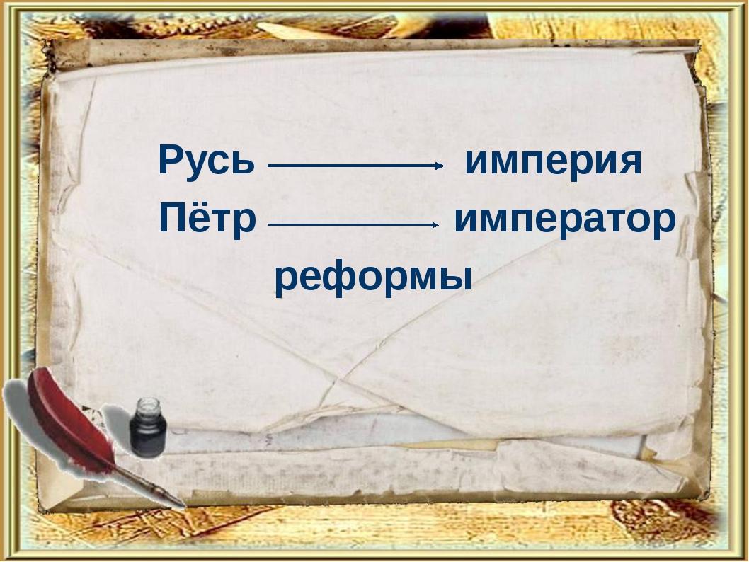 Русь империя Пётр император реформы