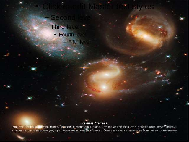Квинтет Стефана Квинтет Стефана - группа из пяти галактик в созвездии Пегаса....