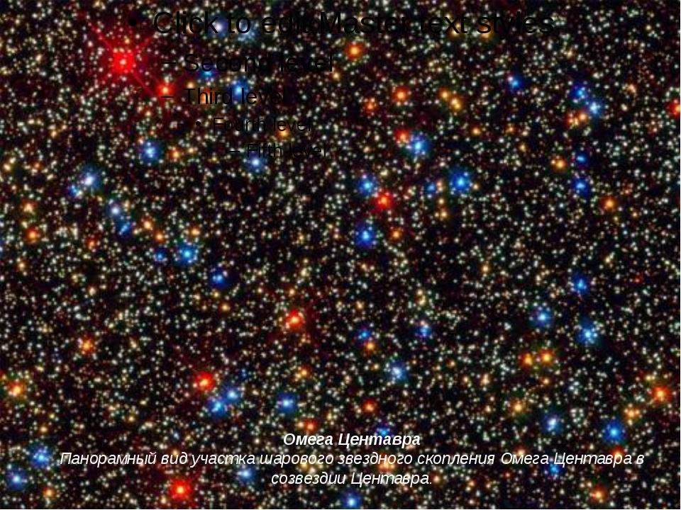 Омега Центавра Панорамный вид участка шарового звездного скопления Омега Цент...