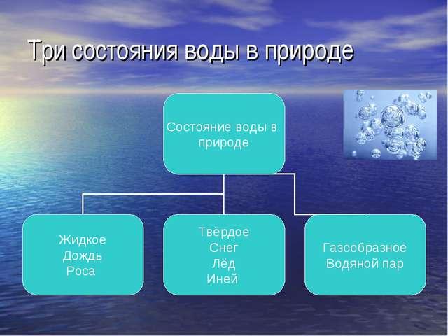 Три состояния воды в природе