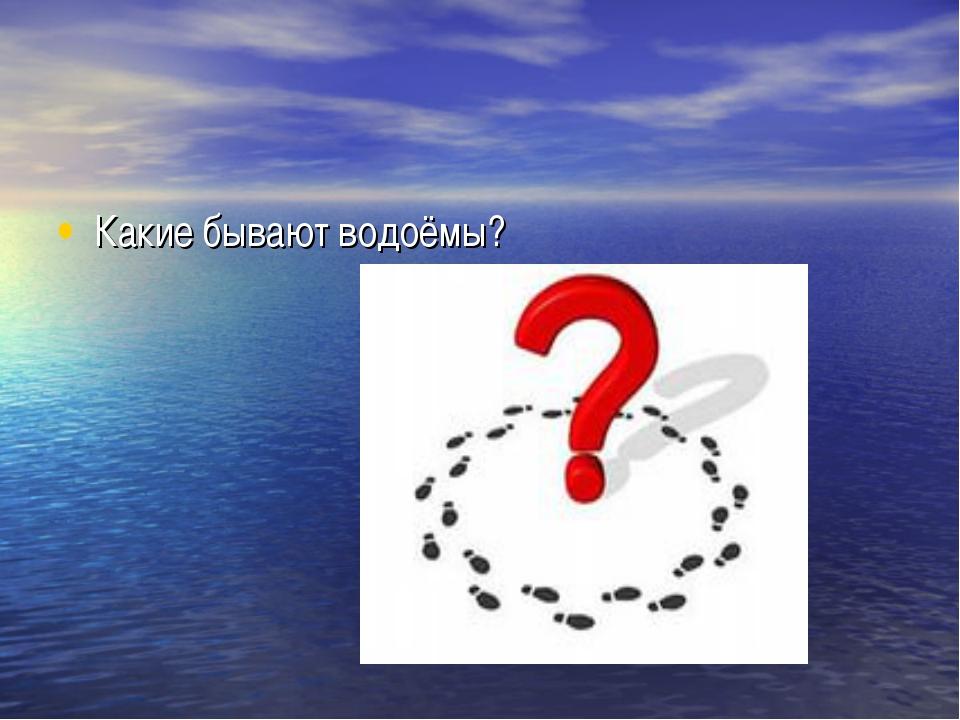 Какие бывают водоёмы?