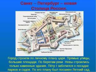 Санкт – Петербург – новая Столица России. Город строили по личному плану царя