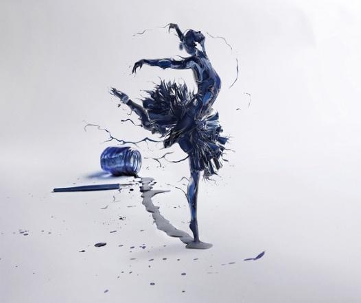 Бесплатно скачать картинки арт, девушка, балерина, чернила, пузырек, перо, обои - 358257