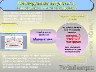 Планируемые результаты, выносимые на итоговую оценку опорный учебный материал