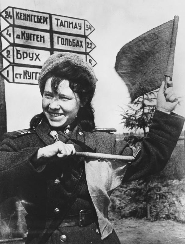 Регулировщица Аня Караваева на пути к Кенигсбергу