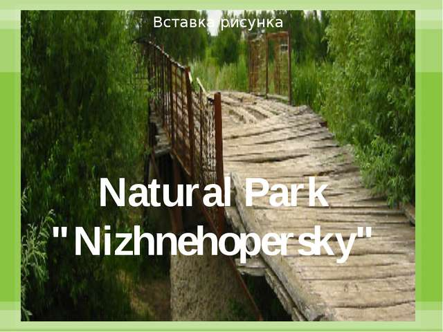 "Natural Park ""Nizhnehopersky"""