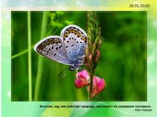 Во всем, над чем работает природа, она ничего не совершает поспешно. Жан Ла